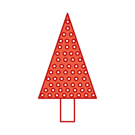 kerstboom pine decoratie viering partij vectorillustratie