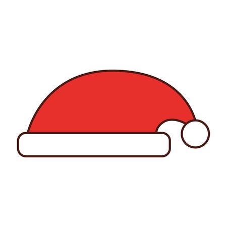 hat of santa claus accessory decoration vector illustration Stock Vector - 86856810