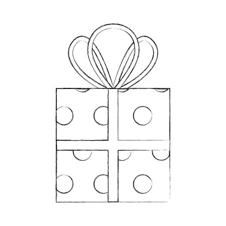 christmas gift box celebration decoration vector illustration