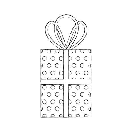 christmas gift box celebration decoration vector illustration