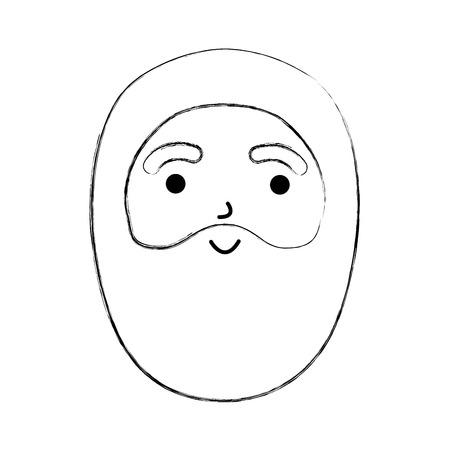 Santa claus character beard vector illustration.