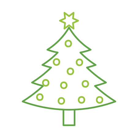 christmas tree pine decoration celebration party vector illustration