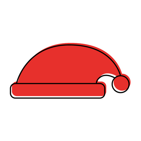 hat of santa claus accessory decoration vector illustration Иллюстрация