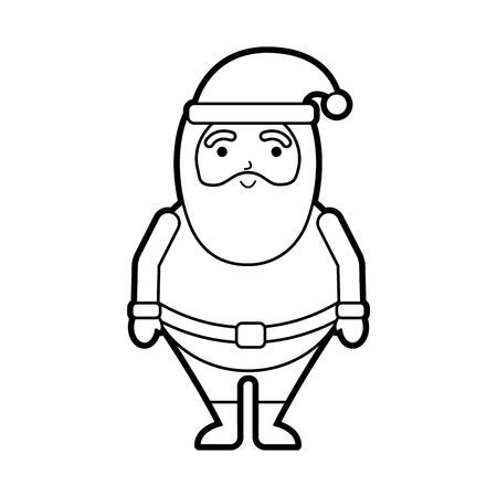 christmas happy santa claus character vector illustration 向量圖像