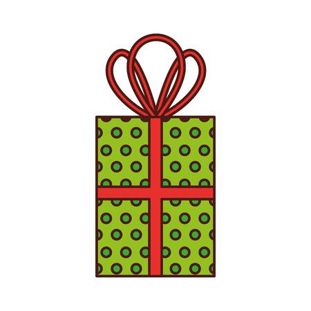 Christmas gift box vector illustration. Stock Vector - 86914333