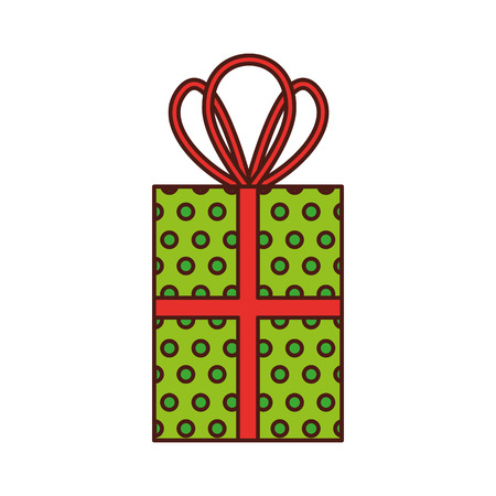 Christmas gift box vector illustration. Illustration