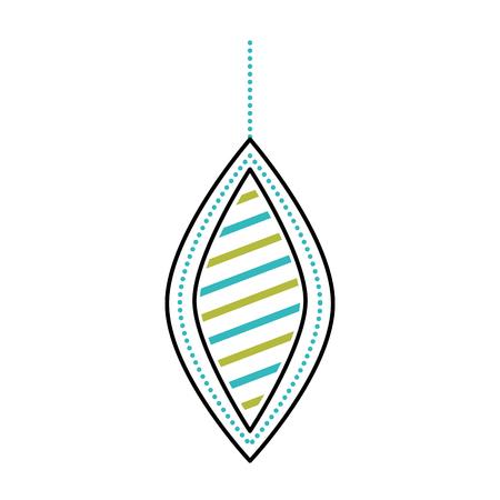 christmas beautiful ball hanging decoration ornament vector illustration Stock Vector - 86856902