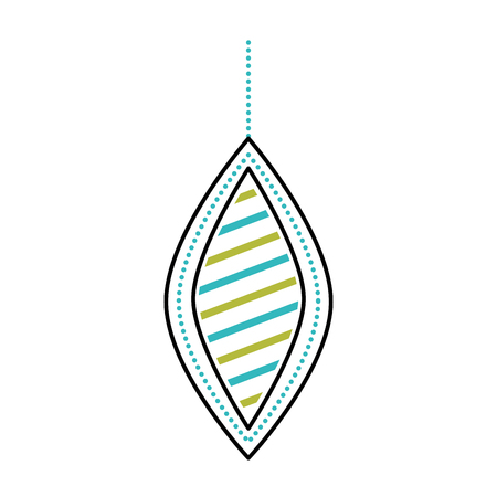Kerstmis mooie bal opknoping decoratie ornament vectorillustratie
