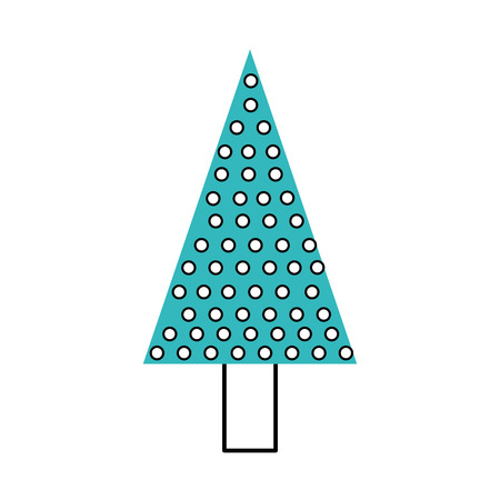 kerstboom pijnboom natuurlijke decoratie viering vectorillustratie