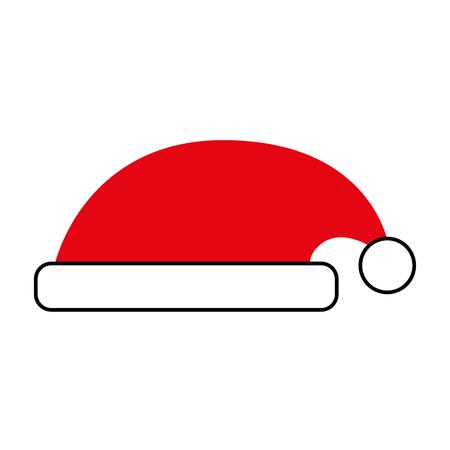 hat of santa claus accessory decoration vector illustration Ilustracja