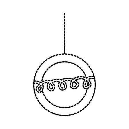 christmas beautiful ball hanging decoration ornament vector illustration