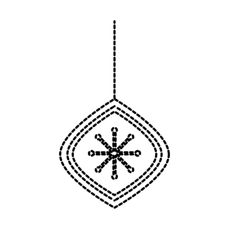 christmas beautiful ball hanging decoration ornament vector illustration Stock Vector - 86856948