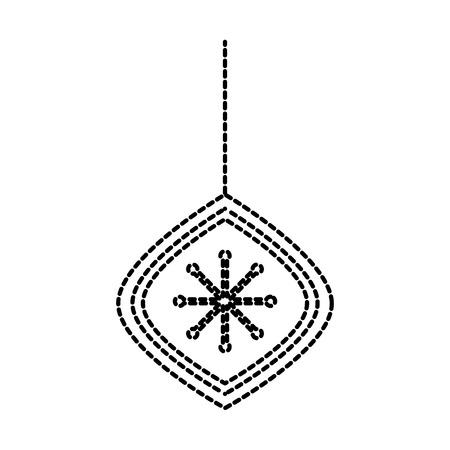 christmas beautiful ball hanging decoration ornament vector illustration