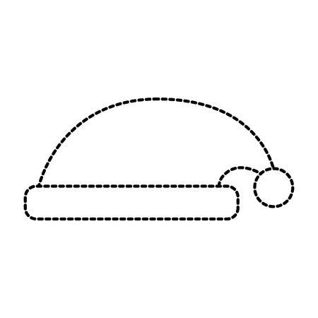 hat of santa claus accessory decoration vector illustration 向量圖像