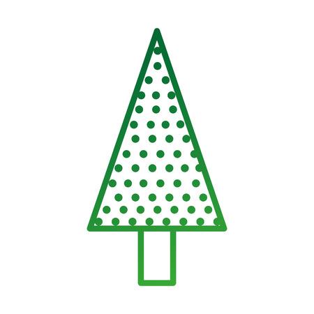 クリスマス ツリー松自然の装飾お祝いベクトル図  イラスト・ベクター素材