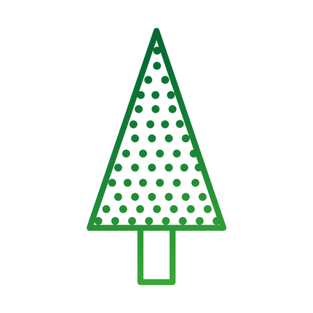 christmas tree pine natural decoration celebration vector illustration