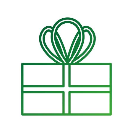christmas gift box wrapped ribbon celebration decoration vector illustration Illustration