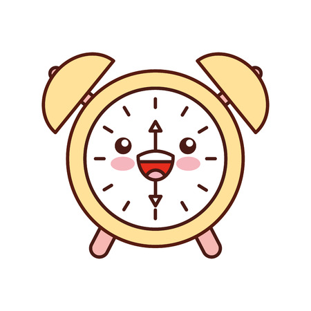 kawaii alarm clock time alert bell hour cartoon vector illustration 版權商用圖片 - 87020359