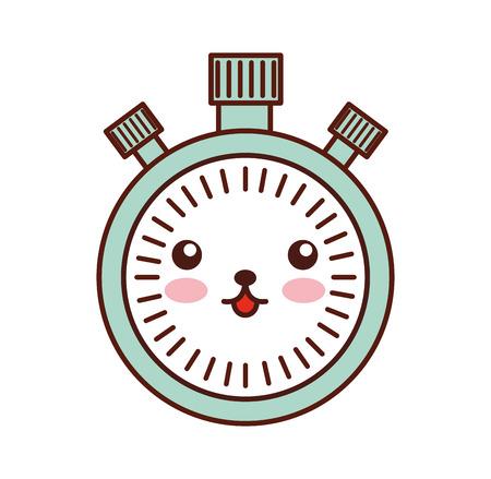 Chronomètre vitesse minuterie dessin animé vector illustration Banque d'images - 86856997