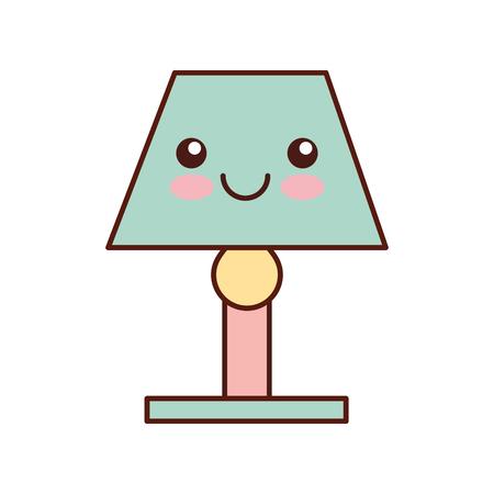 lamp decoration ornament cartoon vector illustration Ilustracja