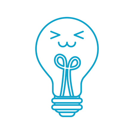 bulb light idea creativity cartoon vector illustration