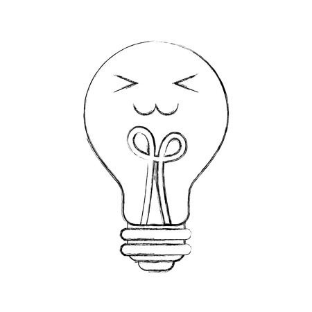 bulb light idea creativity cartoon vector illustration