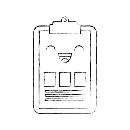 Klembord zakelijke grafiek cartoon vectorillustratie