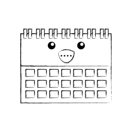 calendar business date appointment cartoon vector illustration Ilustração