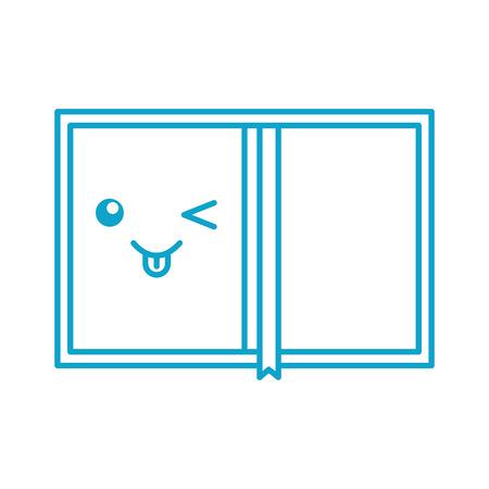 book personal organizer cartoon vector illustration
