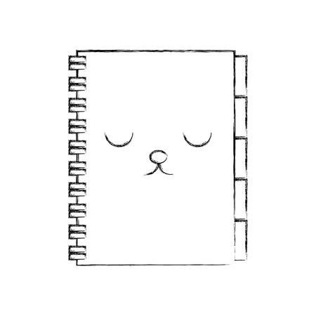 address book business office cartoon vector illustration
