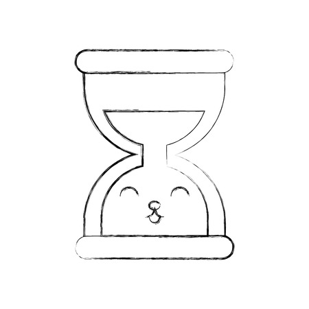 business time management hourglass cartoon vector illustration