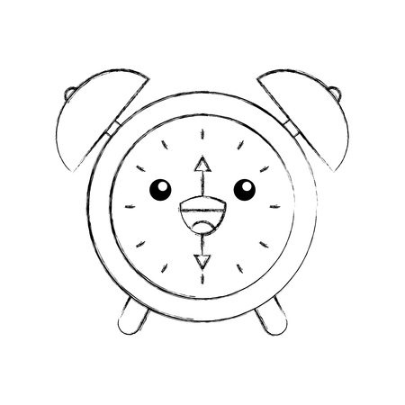 目覚まし時計時間警告ベル時間漫画ベクトル図  イラスト・ベクター素材