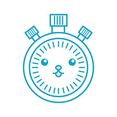 Kawaii chronometer speed timer dessin animé vector illustration Banque d'images - 86857021
