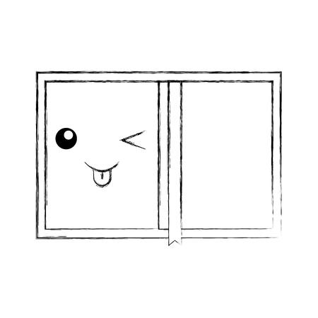 book personal organiser cartoon vector illustration