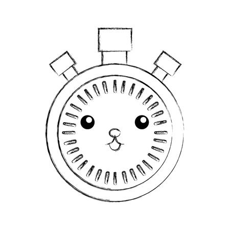 クロノメーター スピード タイマー漫画ベクトル図  イラスト・ベクター素材