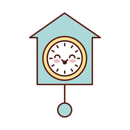 clock pendulum decoration office vector illustration Иллюстрация