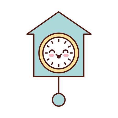 clock pendulum decoration office vector illustration Illustration