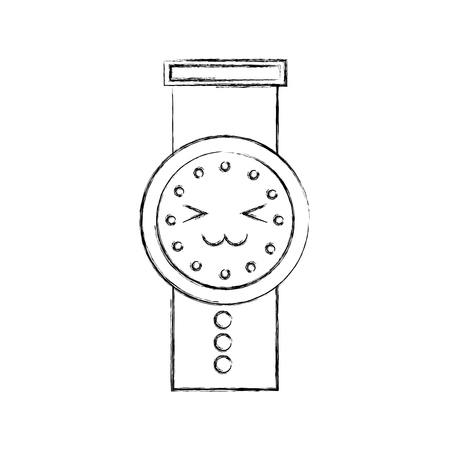 hand watch time business cartoon vector illustration