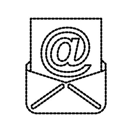 封筒メール ベクトル イラストのペーパー シートのコンセプト