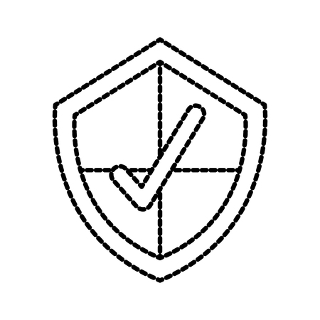 shield with checkmark protection secure symbol for download vector illustration