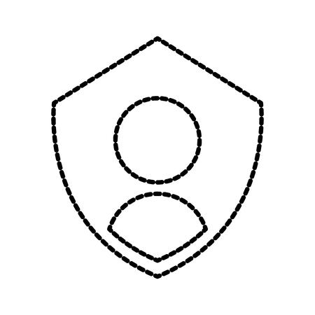 개인 기호 보호와 개인 정보 아이콘 방패 인증 보안 벡터 일러스트 레이션 스톡 콘텐츠 - 86857050