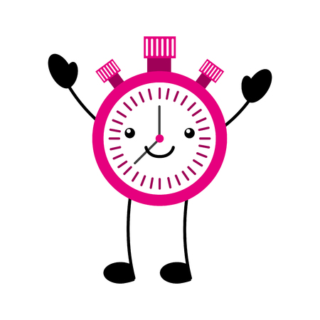 Kawaii chronomètre boom minuterie cartoon illustration vectorielle Banque d'images - 86857052