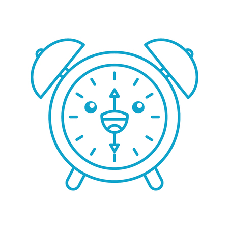 alarm clock time alert bell hour cartoon vector illustration Ilustração