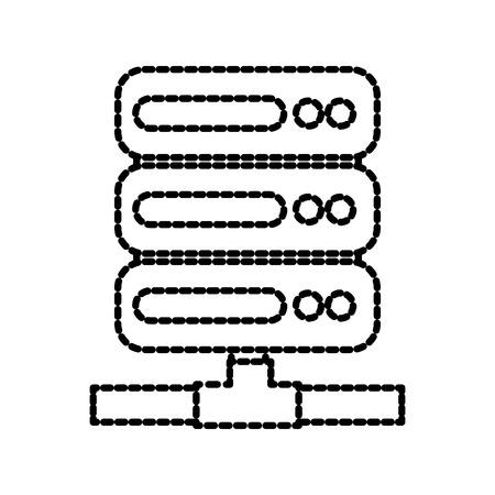 database center server information system technology vector illustration