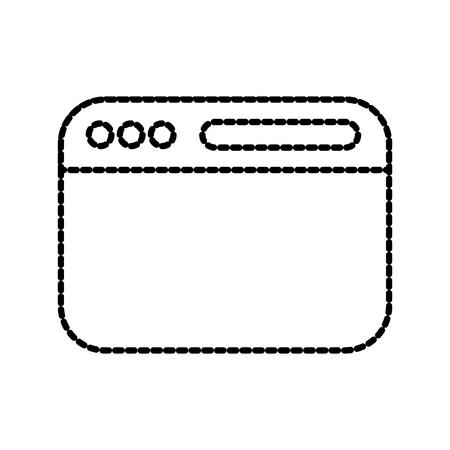 geopende website weergave balk navigatie knop vooruit zoeken vectorillustratie