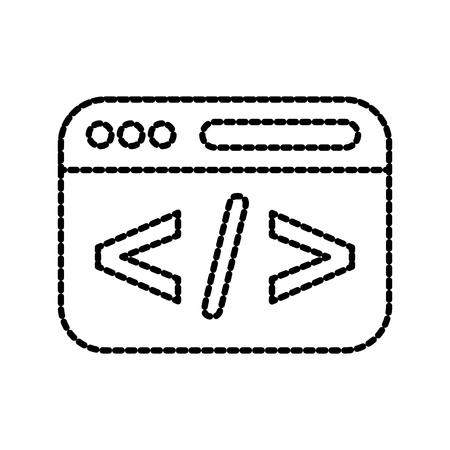 スクリプト web 開発をコーディングとプログラミングの最適化のベクトル図  イラスト・ベクター素材