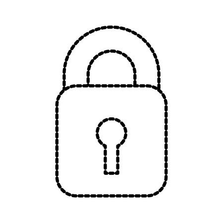 protection digital data mechanism system privacy vector illustration