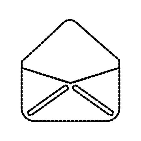 open envelop e-mail virtueel web app vectorillustratie