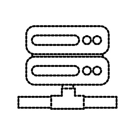 server rack computer data file center hosting vector illustration