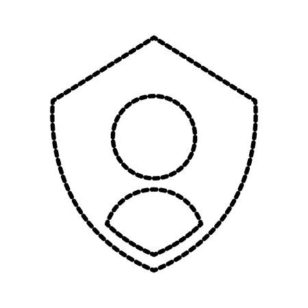 개인 기호 보호와 개인 정보 아이콘 방패 인증 보안 벡터 일러스트 레이션 스톡 콘텐츠 - 86857090